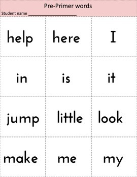 Dolch Sight Words Word Ring Cards - All Sets