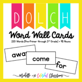 Dolch Word Wall Cards