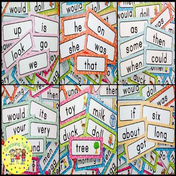 Dolch Sight Words Word Wall Cards