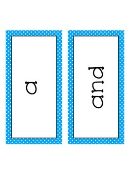 Dolch Sight Words- Word Wall Cards Pre-Primer