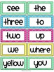 Dolch Sight Words / Word Wall Cards in Bright Colors {315 Words}