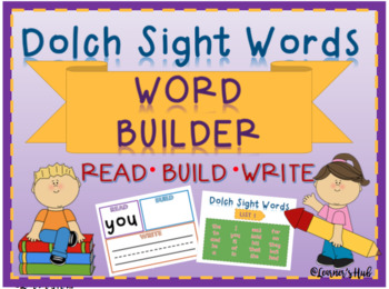 Dolch Sight Words- Word builder- READ, BUILD, WRITE (list 1)