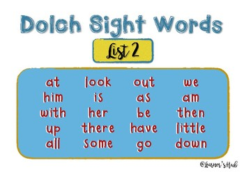 Dolch Sight Words- Word builder- READ, BUILD, WRITE (list 2)