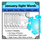 Winter Sight Words Worksheet