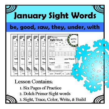 Winter Sight Words Worksheet