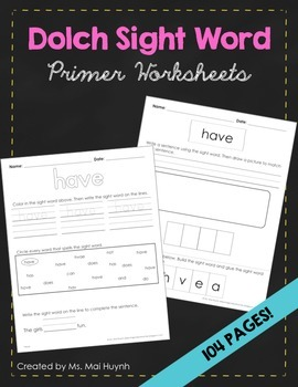 Sight Words - Primer