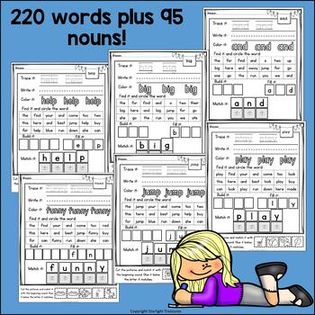 Dolch Sight Words Worksheets and Activities for Early Readers #1