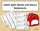 Dolch Sight Words and Nouns Bookmarks - School