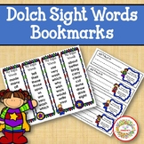 Dolch Sight Words and Nouns Bookmarks - Super Hero