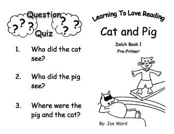 Common Core Kindergarten Dolch Sight Words and Reader - Cat and Pig