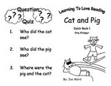 Common Core Kindergarten Dolch Sight Words and Reader - Ca