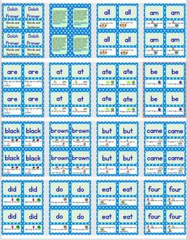 Dolch Sight Words and Sentences Practice Cards - 5 SET BUNDLE