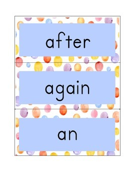 Sight Words for First Grade (Word Wall)