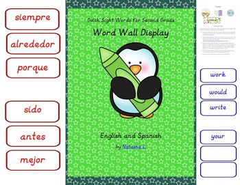 Sight Words for Grade 2 (Word Wall)