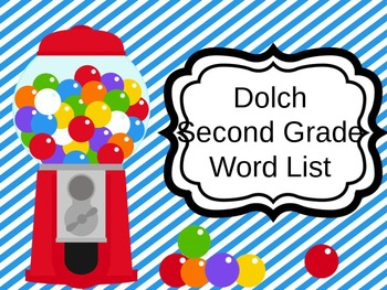 Dolch Sight Words for Second Grade