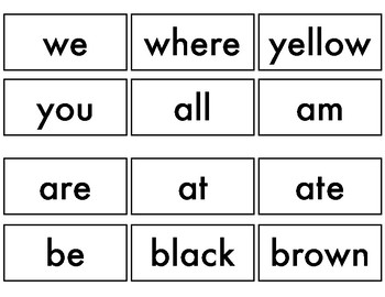 Dolch Sight Words for WordWall