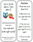 Dolch Sight Words read and write sticker book editable!
