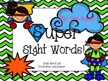 Dolch Sight Words superhero theme