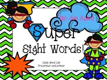 Dolch Sight Words superhero theme