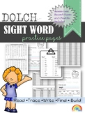 Dolch Sight word practice pages