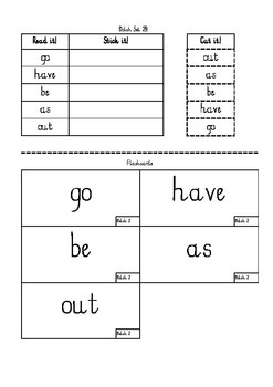 Dolch Sight words Set 2 worksheets and flashcards