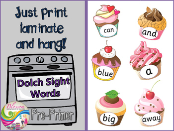 Dolch Sight words pre-primer bulletin board- BEL10002