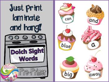 Dolch Sight words pre-primer bulletin board- BEL10002
