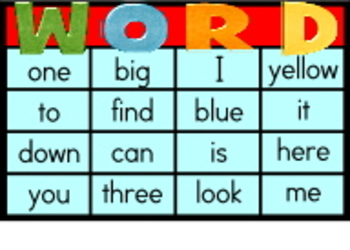 Dolch Sightword Cards, Pre-writing Cards, Bingo