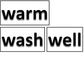 Dolch Site Words Word Cards Freebie