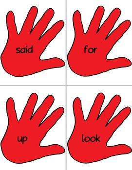 Dolch Slap hands: Pre-Primer