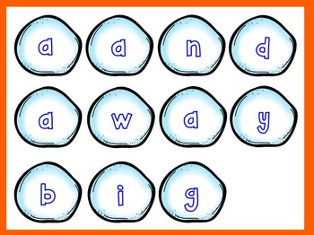 Dolch Snowman Build a Sight Word--Pre-Primer List