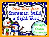 Dolch Snowman Build a Sight Word--Third Grade