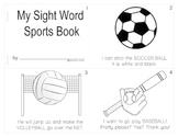 Dolch Sports Mini-book Using ALL Pre-primer - 1st grade words