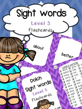 Sight Word Flashcards: Third Grade