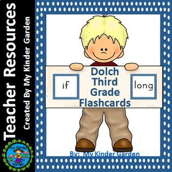 Dolch Third Grade Flashcards Blue Dot