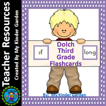 Dolch Third Grade Flashcards Purple Dot