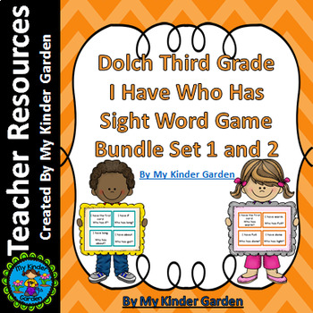 Dolch Third Grade I Have Who Has Sight Word Games Bundle