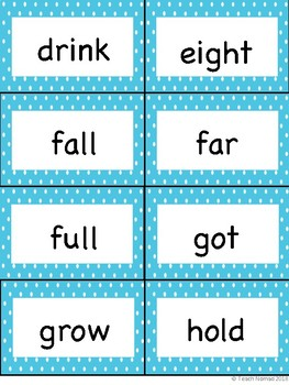 Third Grade Sight Word Flash Cards
