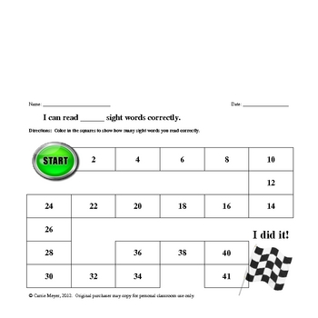 Dolch Third Grade Sight Word Formative Assessment and Flashcards