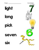 Dolch Third Grade Sight Word Picture Match