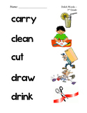 #1. Dolch Third Grade Sight Word Picture Match