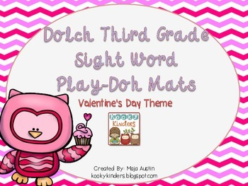 Dolch Third Grade Sight Word Play-Doh Mats Valentine's Day Theme
