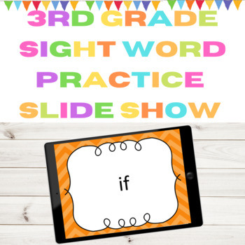 Dolch 3rd Grade High Frequency Words Sight Word PowerPoint