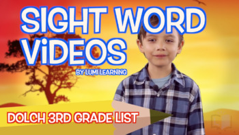Dolch Third Grade Sight Word Videos, 22-40 (Qty. 19 Videos) -
