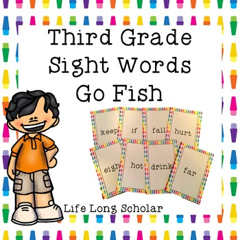 Dolch Third Grade Sight Words Go Fish Review Game