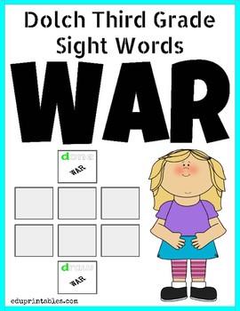 Dolch Third Grade Sight Words War