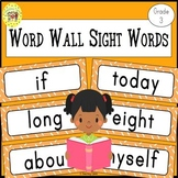Dolch Third Grade Sight Words Word Wall Cards