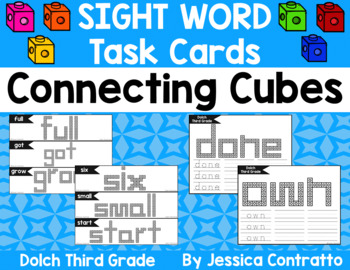 Dolch Third Grade Task Cards: Connecting Cubes
