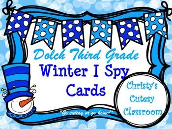 Dolch Third Grade Winter I Spy Cards