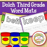 Dolch Third Grade Word Mats - Build and Write -  Color